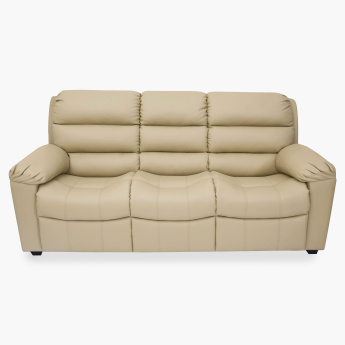 Petals Faux Leather Sofa- 3 Seater