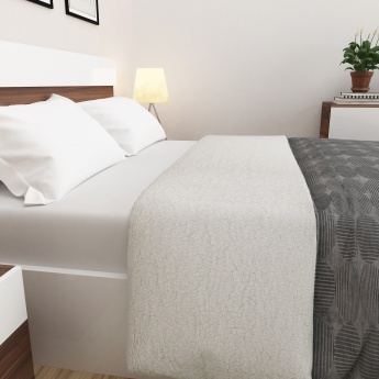 Marshmallow Solid Double Blanket