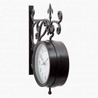 Casablanca Double-Sided Station Clock
