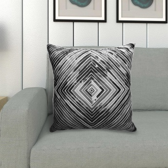 Vitara Diamond Digital Print Filled Cushion- 40x40 cms.