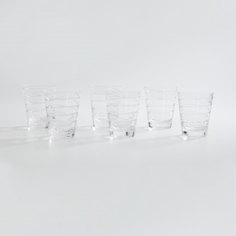 SOLITAIRE Conica Round Crystal Glass-Set Of 6 Pcs