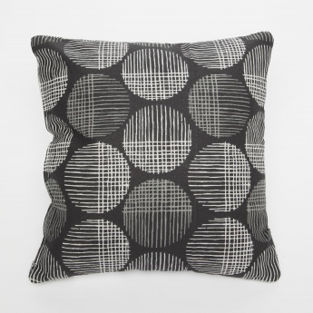 Ebony Printed Filled Cushions- 2 Pcs.