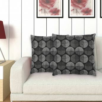 Printed Filled Cushion- Set Of 2 Pcs.