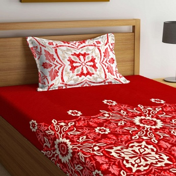 Harold Printed Single Bed Sheet- Set of 2 Pcs.