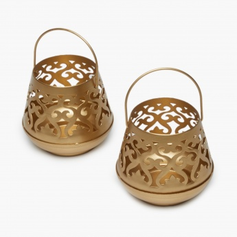 ANANDA Etching Lantern Set- 2 Pcs.