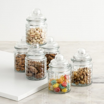 MARLEY-MIMOSA Round Storage Jar Set- 6 Pcs. (500 ml.)