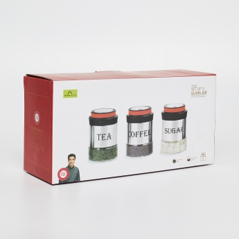Shale Marley Printed Storage Jars Set- 3 Pcs.