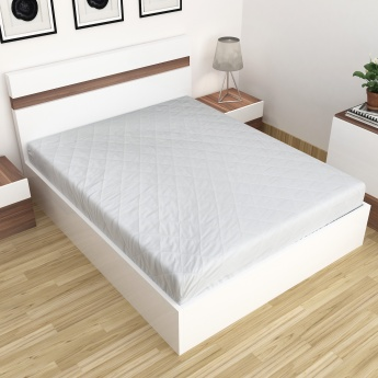 Symphony Solid Quilted King-Size Bed Mattress Protector