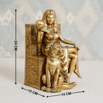 Jaguar Abstract Queen Figurine With Lion