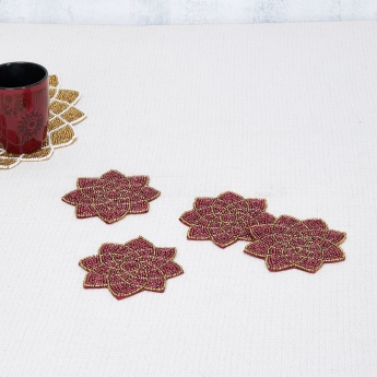 Moksha Utsav Beaded Coaster Set- 4 Pcs.
