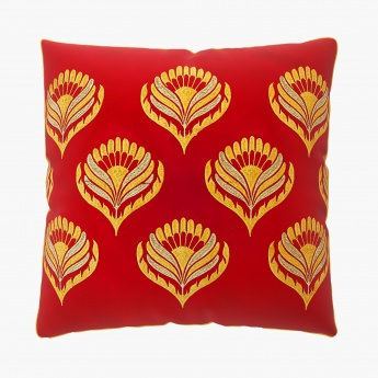 Moksha Floral Embroidered Cushion Covers - Set Of 2 Pcs.