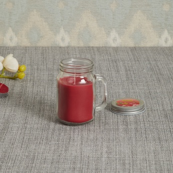 Colour Connect Mason Jar Candle - Raspberry