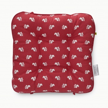 Poise Squirrel Print Chair Pad