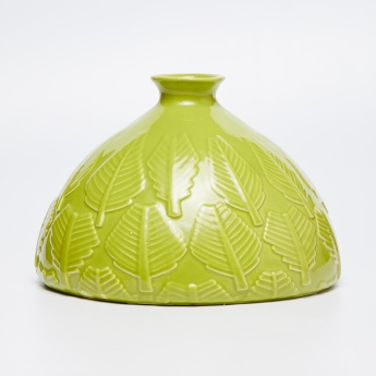 Splendid Leaf Accent Ceramic Vase
