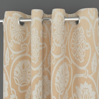 Griffin Floral Floral Printed Door Curtain-Set Of 2 Pcs.