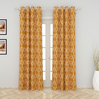 Griffin Sojourn Contemporary Door Curtain-Set Of 2 Pcs.