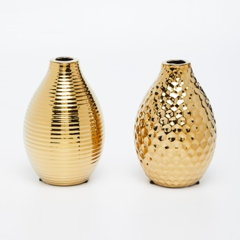 Ananda Textured Bud Vases - Set of 2 Pcs.