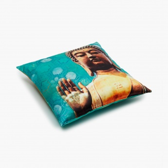 Aurora Buddha Print Filled Cushion
