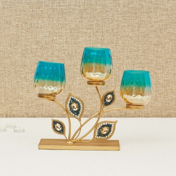 Splendid Textured Round Votive T-Light Holder