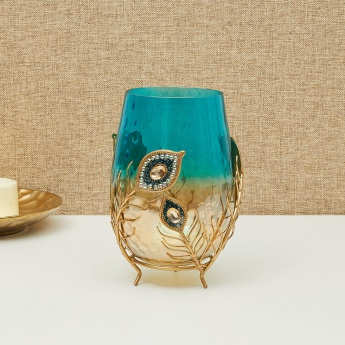 Splendid Textured Round Hurricane Lamp