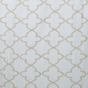 Crystal Trellis Embroidered Door Curtain-Set Of 2 Pcs.