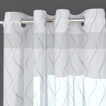 Crystal Wave Embroidered Door Curtain-Set Of 2 Pcs.