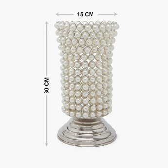 Splendid Zayn Pearl Footed Vase- Small
