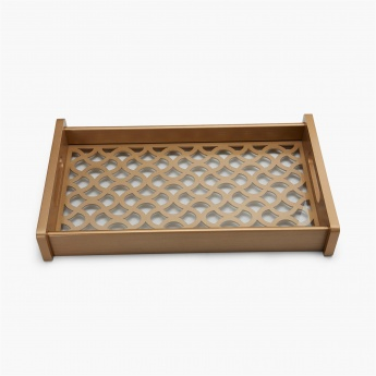 Moksha Laser Cut Tray with Wooden Handle