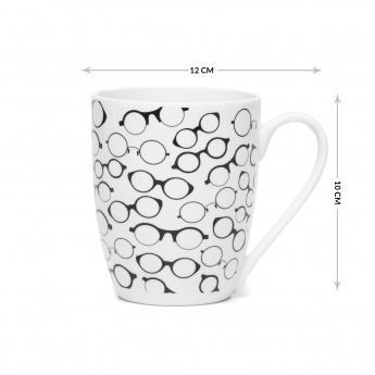 Raisa Retro Glasses Bone China Mug