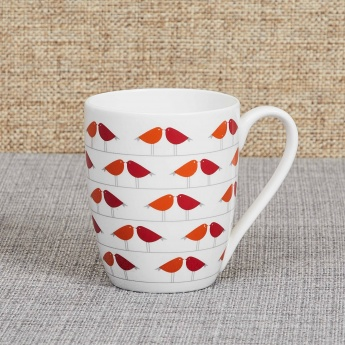 Raisa Retro Birdie Bone China Mug