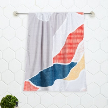 SPACES Printed Cotton Bath Towel