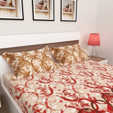 Matrix King-Size Double Bedsheet Set- 3 Pcs.