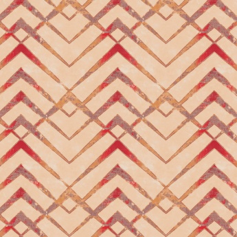 Matrix Panama Zig-Zag Print Cotton Window Curtains- 2 Pcs.