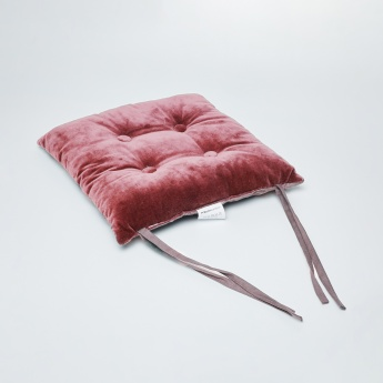 Yael Velure Velvet Tie-Up Chairpad