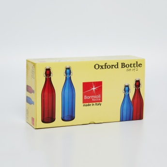 PASABAHCE Bormioli Oxford Bottle Set- 2 Pieces.