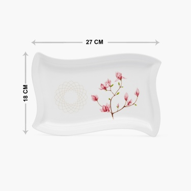 Moksha Bone China Printed Platter