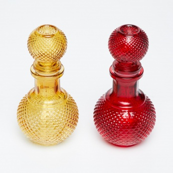 Peaches Round Decanters With Knob- 3 Pcs.