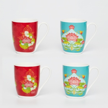 Manish Arora Printed Bone China Mugs-Set Of 4 Pcs.