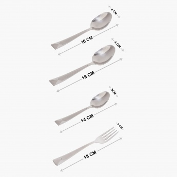 Laurel Stainless Steel Spoon & Fork Cutlery Set - 24 Pcs