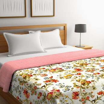 Cadence Printed King-Size Quilted Double Comforter - 224 x 274 Cms