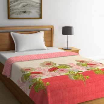 Cadence Printed Single-Bed Quilted Comforter - 152 x 224 Cms