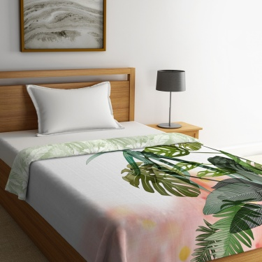 PORTICO Rain Forest Printed Cotton Single Bed Comforter