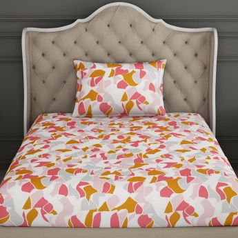 SPACES Essentials Printed Cotton Single Bedsheet-Set Of 2 Pcs.