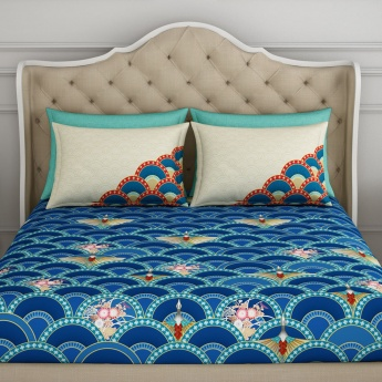SPACES Printed Single Bed Sheets Set of 3 Pcs.