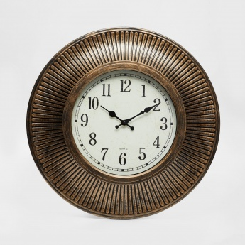 Casablanca Striped Embossed Round Clock