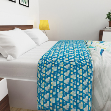 Matrix Printed Double Bed Quilted Blanket