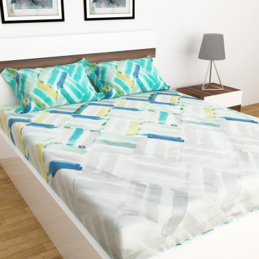 Matrix Harbour Set of 3 King Size Printed Bed Sheet Set