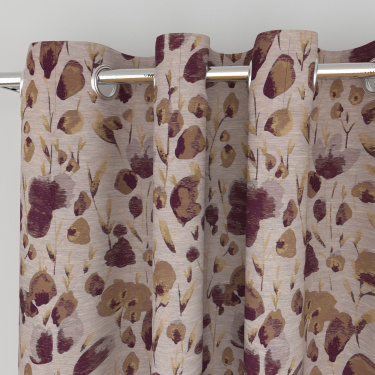 Matrix Floral Print Semi-Blackout Window Curtain - 135 x 160 cm
