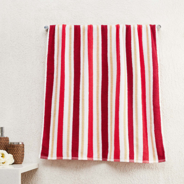 Mekong Striped Rectangular Cotton Bath Towel