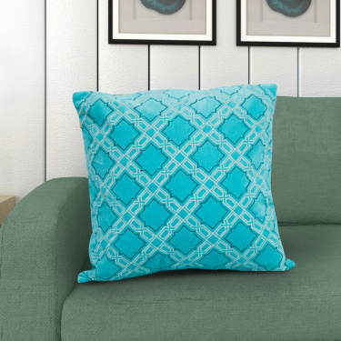 Matrix Embroidered Filled Cushion